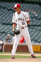 August 8, 2009:  Pitcher Evan Rutckyj (11) of Team One during the Under Armour All-America event at Wrigley Field in Chicago, IL.  Photo By Mike Janes/Four Seam Images
