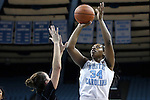 21 November 2013: North Carolina's Xylina McDaniel. The University of North Carolina Tar Heels played the Coastal Carolina University Chanticleers in an NCAA Division I women's basketball game at Carmichael Arena in Chapel Hill, North Carolina. UNC won the game 106-52.