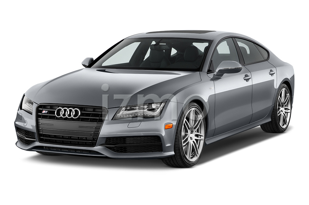 2015 Audi S7 Base 4 Door Sedan angular front stock photos of front three quarter view