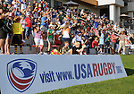 August 13, 2011:  A sell out crowd is on hand for the pre World Cup test match between Canada and USA's national teams at Infinity Park, Glendale, Colorado.  Canada defeated USA 27-7.     .. ...