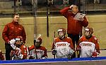 06.01.2020, BLZ Arena, Füssen / Fuessen, GER, IIHF Ice Hockey U18 Women's World Championship DIV I Group A, <br /> Japan (JPN) vs Daenemark (DEN), <br /> im Bild Entsetzen auf der daenischen Spielerband nach einer Torchance, Bjorn Peters (DEN) <br />  <br /> Foto © nordphoto / Hafner