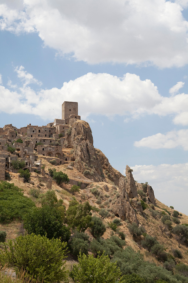 Craco, a ghost town in Basilicata, ITALY