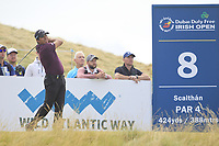 Andres Romero (ARG) on the 8th tee during Round 2 of the Dubai Duty Free Irish Open at Ballyliffin Golf Club, Donegal on Friday 6th July 2018.<br /> Picture:  Thos Caffrey / Golffile