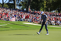 Thomas Pieters (Team Europe) during Sunday Singles matches at the Ryder Cup, Hazeltine National Golf Club, Chaska, Minnesota, USA. 02/10/2016<br /> Picture: Golffile | Fran Caffrey<br /> <br /> <br /> All photo usage must carry mandatory copyright credit (&copy; Golffile | Fran Caffrey)