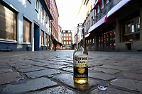 GERMANY, Hamburg, Corona Virus, COVID-19, closed brothel on Reeperbahn, St. Pauli red light district / geschlossene Bordelle in der Herbertstraße