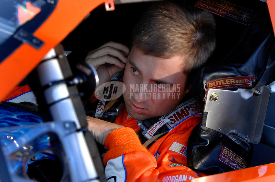 Oct. 13, 2006; Concord, NC, USA; Nascar Busch Series driver Eric McClure during the Dollar General 300 at Lowes Motor Speedway. Mandatory Credit: Mark J. Rebilas