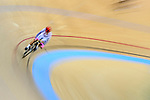 Cyclist competes during the Track Cycling Race 2016-17 Series 3 at the Hong Kong Velodrome on February 4, 2017 in Hong Kong, China. Photo by Marcio Rodrigo Machado / Power Sport Images