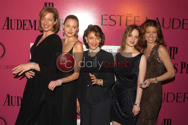 Allison Janney, Estella Warren, Evelyn Lauder, Thora Birch and Debra Messing