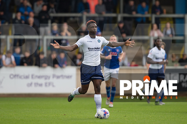 Anthony Stewart of Wycombe Wanderers looks at options during the Sky Bet League 2 match between Carlisle United and Wycombe Wanderers at Brunton Park, Carlisle, England on 24 September 2016. Photo by Andy Rowland.
