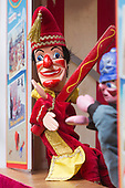 Covent Garden, London, UK. 11 May 2014. Punch & Judy Show. The Covent Garden May Fayre and Puppet Festival takes place at St Paul's Church.
