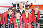 The Kenmare u14 boys crew l-r: David Cronin, Micheál McCarthy, Niall Duncan, Cierán O'Sullivan and Joseph Doyle who won medals at the Kenmare Regatta on Sunday.