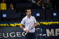 VALENCIA, SPAIN - OCTOBER 28: Radek Stepanek during Valencia Open Tennis 2015 on October 28, 2015 in Valencia , Spain