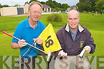 Gerry O'Sullivan and Derry Healy of Deerpark Pitch and Putt club who are preparing the course for the National Mixed foursomes which will be held on the course on the 20th September