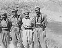 Iraq 1978 <br /> In Nawzang, from left to right, 2nd, Mullazem Omar Abdallah, Dr. Mahmoud Osman and Nou Shirwan Mustafa  <br /> Irak 1978 <br /> A Nawzang ,de gauche a droite, 2eme, Mullazem Omar Abdallah, Dr. Mahmoud Osman et Nou Shirwan Mustafa