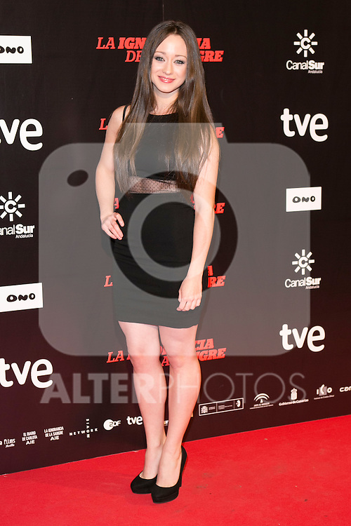 "Elena Rivera attends ""La Ignorancia de la Sangre"" Premiere at Capitol Cinema in Madrid, Spain. November 13, 2014. (ALTERPHOTOS/Carlos Dafonte)"