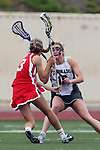 San Diego, CA 05/21/11 - Kaitlyn Couture (Coronado #18) and Krystyn Berretta (Cathedral Catholic #3) in action during the 2011 CIF San Diego Division 2 Girls lacrosse finals between Cathedral Catholic and Coronado.