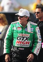 Jan 24, 2009; Chandler, AZ, USA; NHRA funny car driver John Force during testing at the National Time Trials at Firebird International Raceway. Mandatory Credit: Mark J. Rebilas-