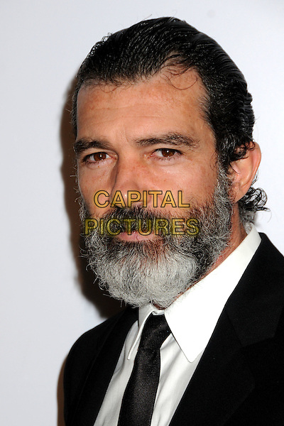 ANTONIO BANDERAS .24th Annual Genesis Awards - Arrivals held at the Beverly Hilton Hotel, Beverly Hills, California, USA, 20th March 2010..portrait headshot black beard facial hair tie white shirt .CAP/ADM/BP.©Byron Purvis/AdMedia/Capital Pictures.