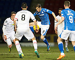 St Johnstone v Inverness Caley Thistle&hellip;09.03.16  SPFL McDiarmid Park, Perth<br />Murray Davidson and Ross Draper<br />Picture by Graeme Hart.<br />Copyright Perthshire Picture Agency<br />Tel: 01738 623350  Mobile: 07990 594431