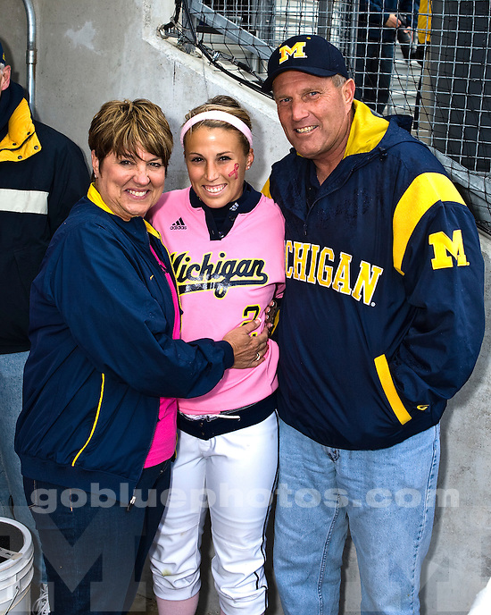 University of Michigan Softball (Women) 10-0 victory over Michigan State University at Alumni Field on 5/08/2010.