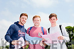 James O'Connor, Conor Ó Nualláin and Ronan Carey sat their first Leaving Cert exam in Mercy Mounthawk Secondary School on Wednesday (yesterday) morning.