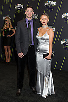 LAS VEGAS, NV - NOVEMBER 30: Denny Hamlin and Jordan Fish arriving to the 2017 NASCAR Sprint Cup Awards at The Wynn Hotel & Casino in Las Vegas, Nevada on November 30, 2017. Credit: Damairs Carter/MediaPunch /NortePhoto NORTEPHOTOMEXICO