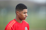 Marcus Rashford of Manchester United during the UEFA Europa League training at the AON Carrington training complex. Photo credit should read: Philip Oldham/Sportimage