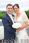 Daniella Sloat, Essex, daughter of David and Barbara Sloat, and Roy Enright, Tralee, son of Christy and Maureen Enright, were married at St. John's church Tralee, by Fr. Padraig Walsh on Saturday 19th July 2014 with a reception at Ballyroe Heights Hotel