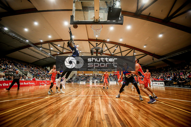 NELSON, NEW ZEALAND - MAY 5 : NBL Basketball, Nelson Giants v Southland Sharks on May 5 2018 in Nelson, New Zealand. (Photo by: Evan Barnes Shuttersport Limited)