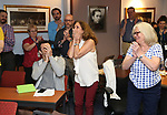 Rebecca Kim Jordan during the ceremony as The chorus of Broadway's Once on This Island receives the twelfth annual Advisory Committee on Chorus Affairs (ACCA) Award for Outstanding Broadway Chorus from Actors' Equity at the Actors' Equity Offices on June 19, 2018 in New York City.