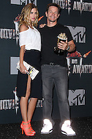 LOS ANGELES, CA, USA - APRIL 13: Rhea Durham, Mark Wahlberg in the press room at the 2014 MTV Movie Awards held at Nokia Theatre L.A. Live on April 13, 2014 in Los Angeles, California, United States. (Photo by Xavier Collin/Celebrity Monitor)