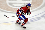 6 February 2007: Montreal Canadiens center Maxim Lapierre skates past center ice during a game against the Carolina Hurricanes at the Bell Centre in Montreal, Canada. The Hurricanes went on to defeat the Canadiens 2-1.....Mandatory Photo Credit: Ed Wolfstein *** Editorial Sales through Icon Sports Media *** www.iconsportsmedia.com