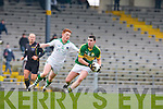 Michael Geaney Kerry turns Derry O'connor Limerick during the McGrath cup semi final in Killarney on Sunday