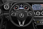 Car pictures of steering wheel view of a 2017 Mercedes Benz E-Class E300 4 Door Sedan Steering Wheel