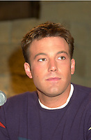 Montreal,April 9, 2001<br /> American actor Ben Affleck speaks at a press conference for the movie `` Sum of all fears ``, currentlly beeing shot in Montreal, CAnada by film maker Phil Alden Robinson.<br /> <br /> Affleck plays CIA analyst Jack Ryan in the 4th movie  based on a Tom Clancy's novel and produced by Mace Neufeld.<br /> <br /> <br /> NOTE :  color corrected D-1 file, saved asAdobe 1998 RBG Color space