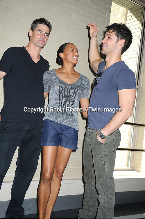 Ben Jorgenson, Kearran Giovanni and David Gregory   attend the Daytime Stars and Strikes Charity Bowling Event benefitting the American Cancer Society on ..October 9, 2011 at Bowlmor Lanes in Times Square.