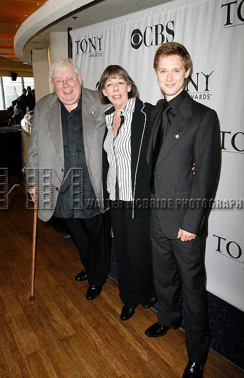 Richard Griffiths, Frances de la Tour & Samuel Barnett.( THE HISTORY BOYS ).attending the 2006 Tony Awards Meet the Nominees Press Reception at The View Restaurant in the Mariott Marquis Hotel..May 17th, 2006.