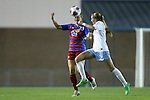18 November 2016: Kansas's Hanna Kallmaier (GER) (23) and North Carolina's Annie Kingman (7). The University of North Carolina Tar Heels played the University of Kansas Jayhawks at Fetzer Field in Chapel Hill, North Carolina in a 2016 NCAA Division I Women's Soccer Tournament Second Round match. UNC won the game 2-0.