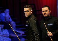 27th February 2020; Waterfront, Southport, Merseyside, England; World Snooker Championship, Coral Players Championship; Mark Selby (ENG) looks back at the table during his quarter-final match against Stephen Maguire (SCO)