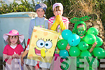 2486-2488.---------.Having Fun.----------.L-R Maura O Sullivan,Kayla&Kate O Neill,Edie Hall(spongeBob)and Maisie Hall all from Stradbally partaking in the fancy dress parade at the Castlegregory Summer Festival last Sunday evening.