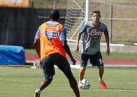 Napoli Calcio ritiro precampionato a Dimaro ( TN)  18 Luglio 2014<br /> nella foto   Jorginho <br /> Napoli soccer pre season summer training in Dimaro