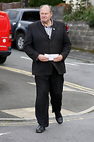 "Pictured: Byron John  the father of Bradley John with the letter he delivered to St John Lloyd School in Llanelli, Wales, UK. Friday 21 September 2018<br /> Re: The grieving father of a bullied pupil who hanged himself in school toilets is calling for the headteacher's resignation.<br /> Heartbroken Byron John claims his son Bradley, 14, would still be alive if the school had acted to stop the bullies.<br /> Mr John, 53, will hand in a formal letter of complaint to the school today (Fri) demanding head Ashley Thomas resigns.<br /> Bradley's 12-year-old sister Danielle found him dead in the toilet block at St John Lloyd Roman Catholic School in Llanelli, South Wales.<br /> Mr John claims his son had been missing for an hour before teachers refused to break down the door of the cubicle where the troubled teenager was found.<br /> Farmer Mr John said: ""I'm very unhappy at the way the school has handled things both before Bradley died, on the day it happened and since.<br /> ""There was a systematic failure of any workable anti-bullying policy.<br /> ""There was a failure to follow up our concerns and those of the healthcare professionals helping my son."""