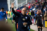 Preston North End 1 Reading 0, 19/08/2017. Deepdale, Championship. Home manager Alex Neil salutes the crowd after the final whistle as Preston North End take on Reading in an EFL Championship match at Deepdale. The home team won the match 1-0, Jordan Hughill scoring the only goal after 22nd minutes, watched by a crowd of 11,174. Photo by Colin McPherson.