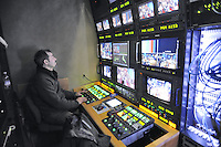 - Milano, gli studi televisivi di LA7 da cui va in onda la trasmissione di approfondimento informativo &quot;L'Infedele&quot;; la sala di regia<br /> <br /> - Milan, television studios of LA7 from which is transmitted the in-depth information show &quot;L'Infedele&quot;: the control room