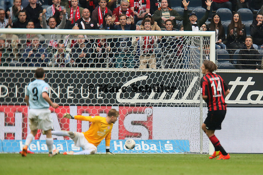 Alex Meier (Eintracht) erzielt das 2:0 - Eintracht Frankfurt vs. 1. FSV Mainz 05