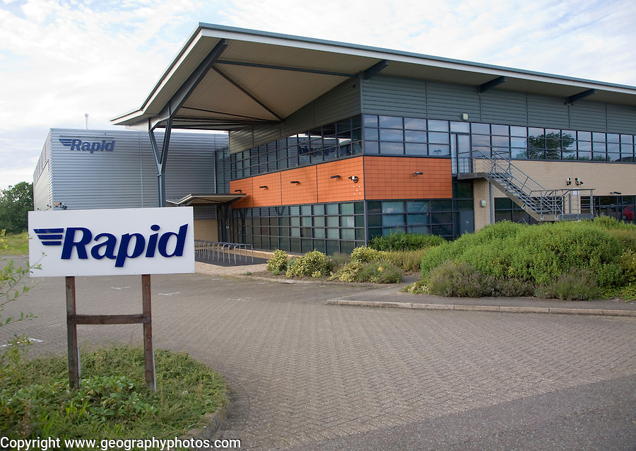 Modern light industrial building for Rapid electronics supplier, Colchester, Essex, England