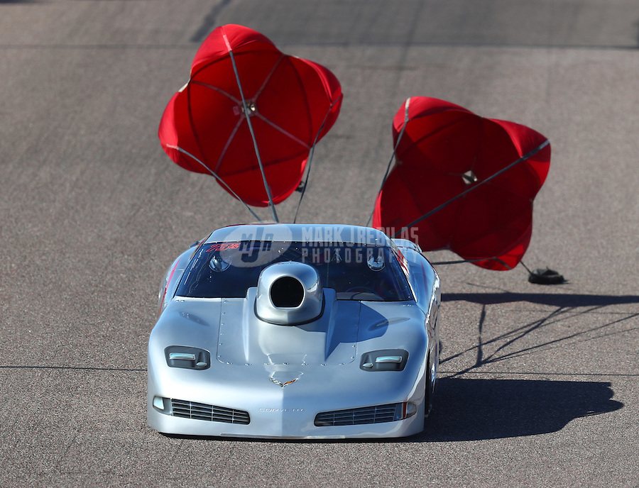 Feb 24, 2017; Chandler, AZ, USA; NHRA top sportsman driver Bryan Warr during qualifying for the Arizona Nationals at Wild Horse Pass Motorsports Park. Mandatory Credit: Mark J. Rebilas-USA TODAY Sports