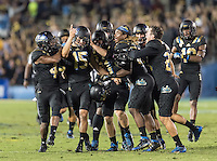PASADENA, CA. - Thursday, October 22, 2015: The Cal Bears Football team vs UCLA Bruins at the Rose Bowl. Final score, Cal Bears 24, UCLA Bruins 40.
