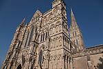 Main Facade of Salisbury Cathedral, England, UK