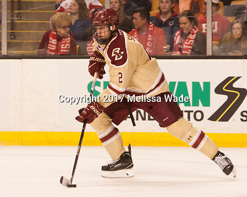 Scott Savage (BC - 2) - The Boston University Terriers defeated the Boston College Eagles 3-1 in their opening Beanpot game on Monday, February 6, 2017, at TD Garden in Boston, Massachusetts.